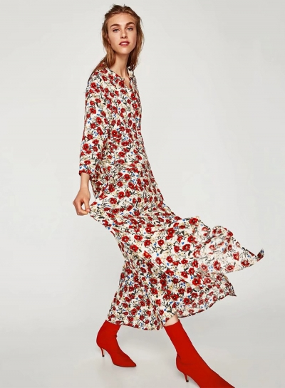 What to wear before summer ends. Floral print dress