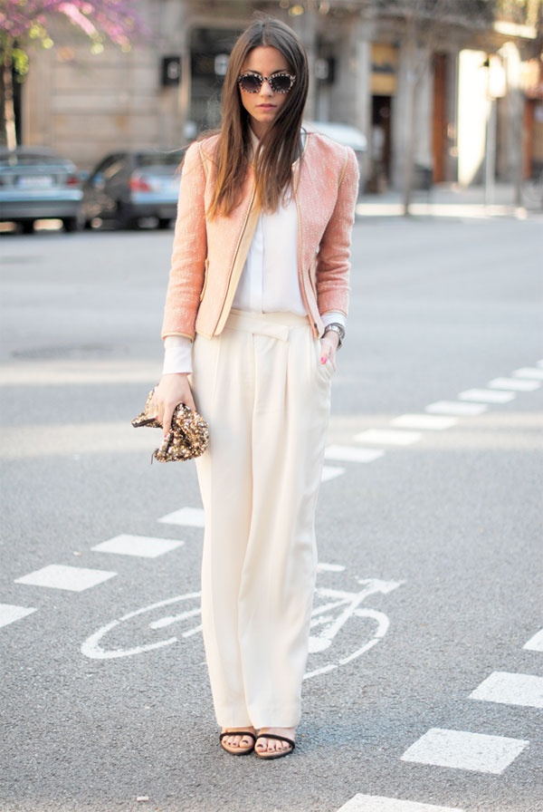 pink soft outfit street style