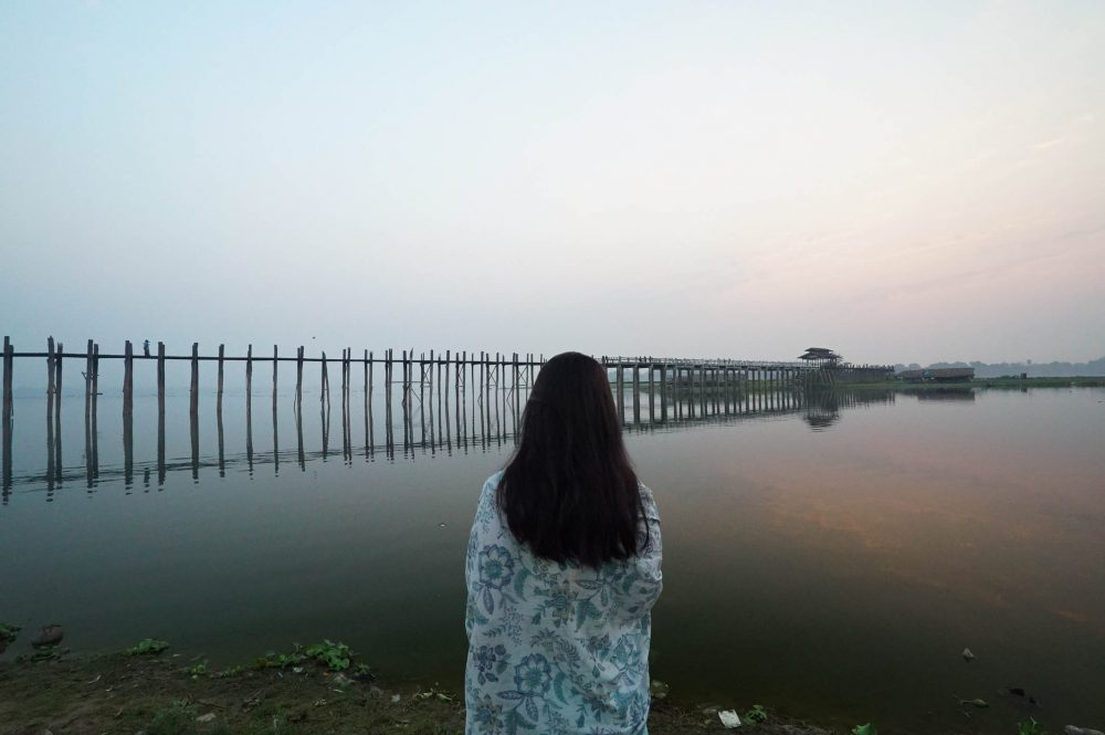 sunrise, u bein bridge, myanmar, burma, bridge, lake, travel, sunrise, travel blogger, discover, before dusk