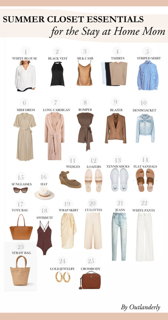 Summer closet essentials for the stay at home mom